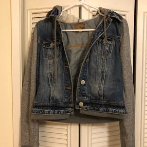 American Eagle Hooded Denim Jacket